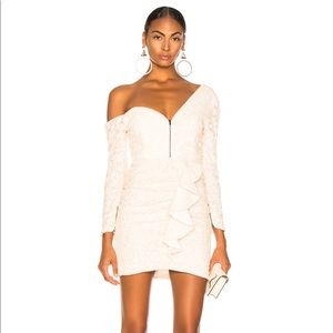 Self – Portrait sequin asymmetrical mini dress